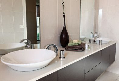 Modern bathroom cabinetry