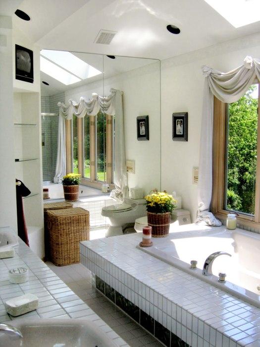 Sunny bathroom
