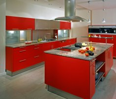 Modern bold red with steel accents